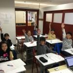 今日も、ノリノリの小4生たちと、ノリノリで授業、楽しい時間でした。