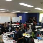 12時間にわたって、中学生達と定期テスト対策学習会に没頭。充実の時間が教室に流れていました。