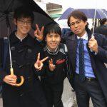 雨の県立高校合格発表、今年も母校へ。