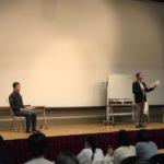 白石先生と室屋選手による特別授業「心を鍛える言葉」〜世界一のメンタル〜 実施いたしました。